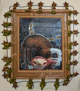 Invidious Tree In Opera Gloves - Framed by Nancy Mauerman