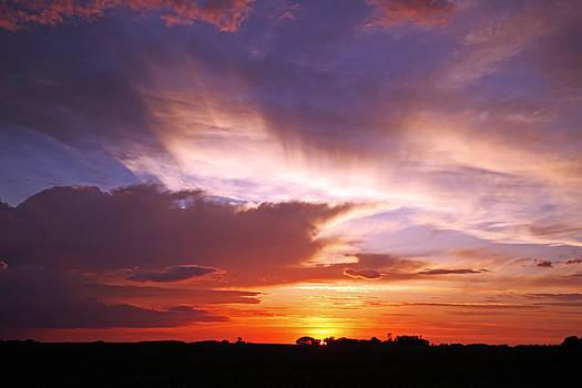 Iowa Sunset 2 by Steve  Yezek