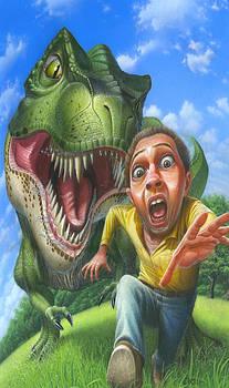 iPhone - Galaxy Case - Tyrannosaurus Rex Jurassic Park Dinosaur - T Rex - T-Rex by Walt Curlee