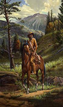 iPhone Case - Jim Bridger - Mountain Man - Frontiersman - Trapper - Wyoming Landscape by Walt Curlee