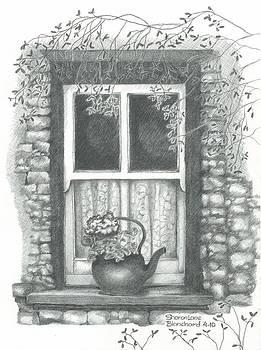 Ireland Cottage Window by Sharon Blanchard