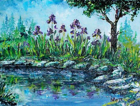 Iris Pond by Georges St Pierre