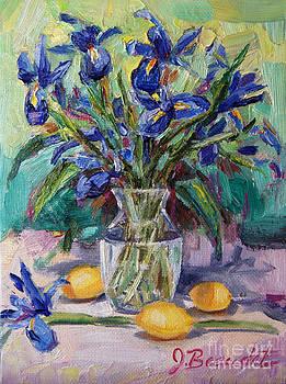 Irises and Lemons by Jennifer Beaudet