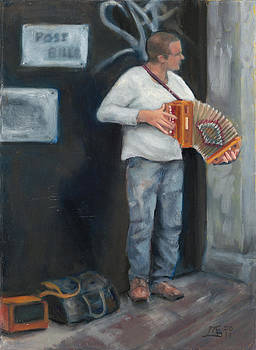 Irish Concertina Player  by Mary Gingrich