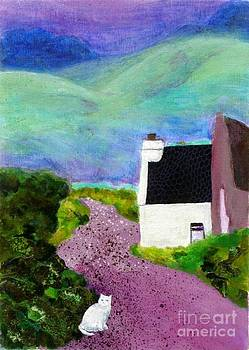 Irish Cottage with Cat by Susan Minier