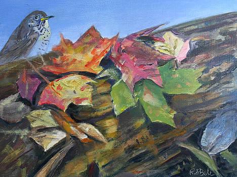 Irish Ridge Leaves and Bird by Randy Bell