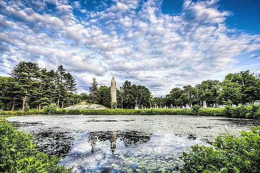 Irish Round Tower Milford MA by James Wellman