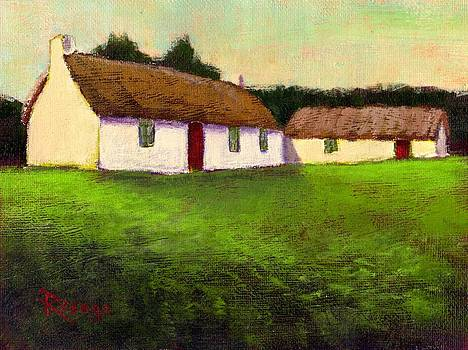 Irish Thatched Roof Cottages by Bernie Rosage Jr