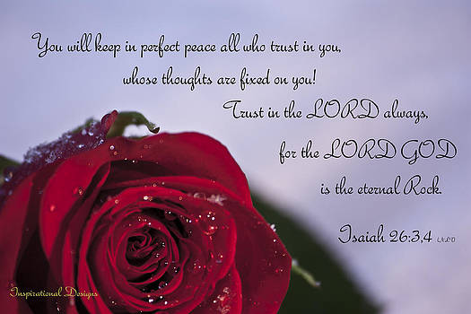 Isaiah 26 3 4 by Inspirational  Designs