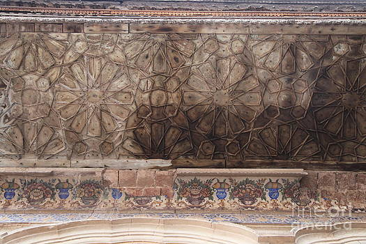 Islamic Geometrical Design On The Underside Of The Roof Of The Umar Hayat Mahal by Murtaza Humayun Saeed