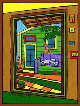 Island Arts Garden - Cedar Key by Mike Segal