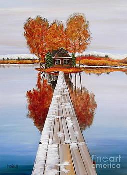 Island Cabin 2 by Marilyn  McNish