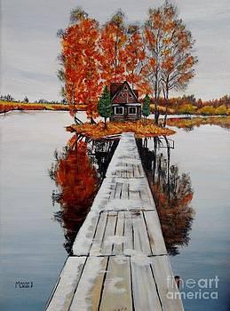 Island Cabin by Marilyn  McNish