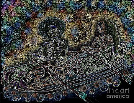 Island Canoe Lovebirds by Teleita Alusa