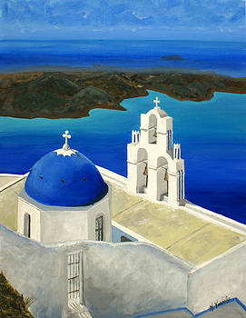 Island of Santorini by Maria Varnalis