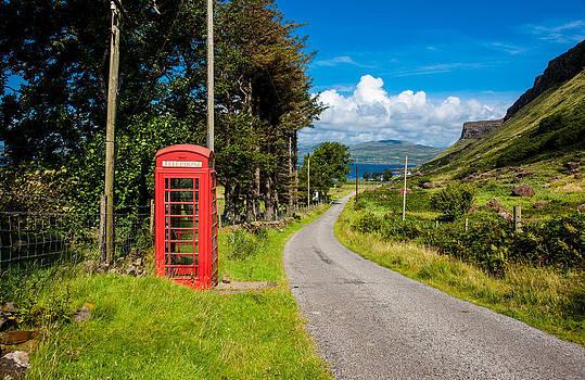 Traditonal British Telephone Box on the Isle of Mull by Max Blinkhorn