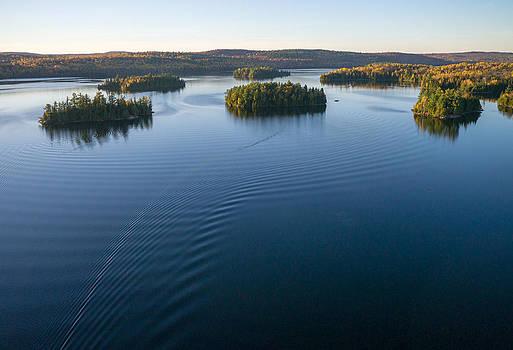 Islands on Big Cedar Lake. Quebec. by Rob Huntley