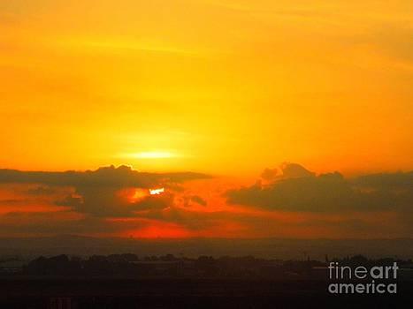 Israeli sunset by Robin Coaker