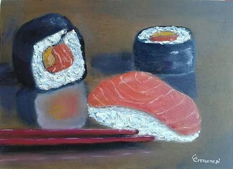 Itadakimasu - sushi and sashimi still life by Gianluca Cremonesi