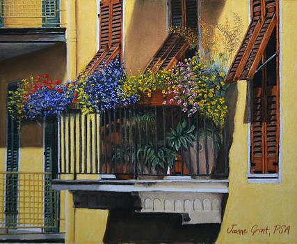 Italian Balcony by Joanne Grant