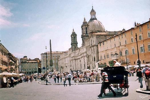 Italian Promenade by Piero Lucia