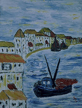 Italien fishing town by Inge Lewis
