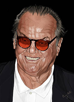 Jack Nicholson by Brien Miller