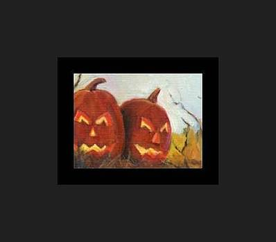 Jack O Lanterns Halloween 2 by Donna Pomponio Theis