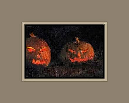 Jack O Lanterns Halloween by Donna Pomponio Theis