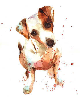 Jack Russell Painting by Alison Fennell