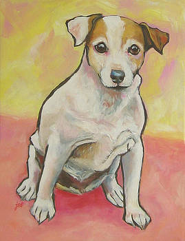 Jack Russell Terrier - Miss Maddie by Janet Burt
