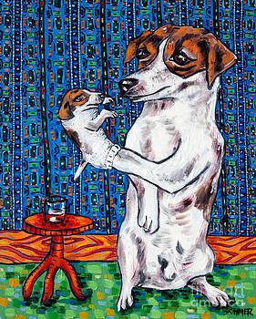 Jack Russell Terrier Ventriloquist by Jay  Schmetz