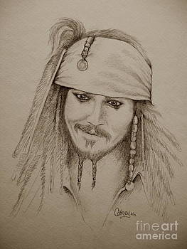 Jack Sparrow in Sepia by Catherine Howley