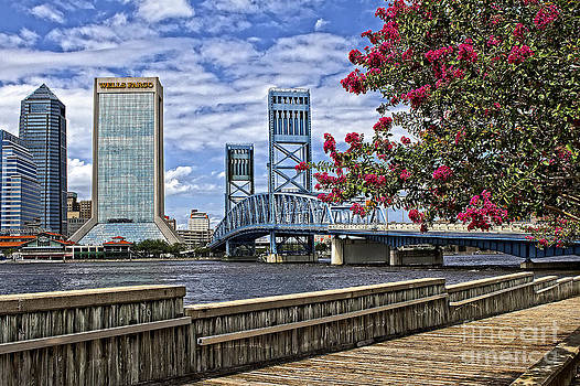Jacksonville Riverwalk by Richard Burr