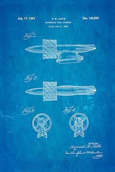 Ian Monk - Jaffe Hood Ornament Patent Art 1951 Blueprint