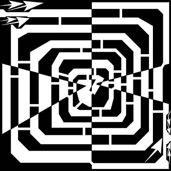 Jagged Twirl Inventer Maze  by Yonatan Frimer Maze Artist