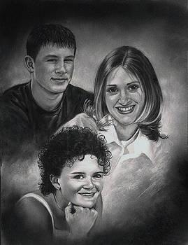 Jake Chris and Beth by Artist Karen Barton