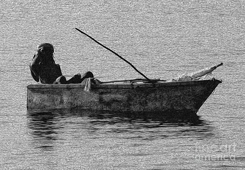 Jamaican Fisherman in Ocho Rios Jamaica by Kenneth Montgomery