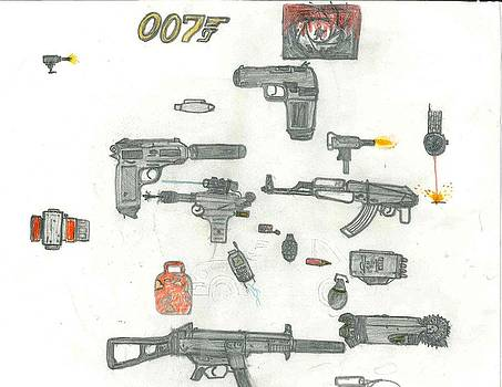 James Bond's Weapons by Fred Hanna