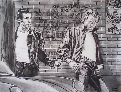James Dean Meets The Fonz by Sean Connolly