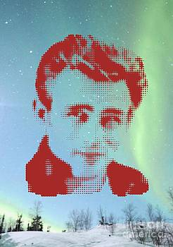 James Dean On Aurora Borealis by Rodolfo Vicente