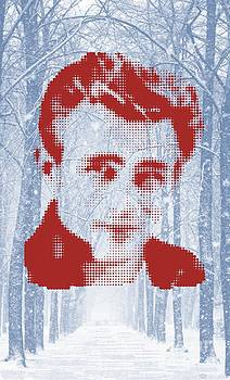 James Dean On Snow Walk by Rodolfo Vicente