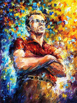 James Dean - PALETTE KNIFE Oil Painting On Canvas By Leonid Afremov by Leonid Afremov