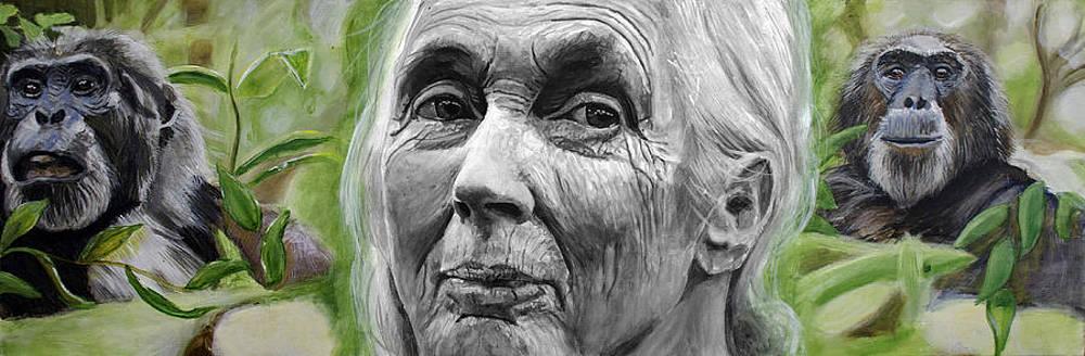 Jane Goodall by Simon Kregar