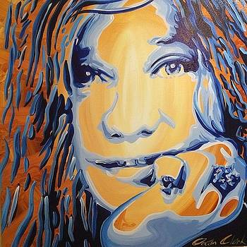 Janis Joplin 24x24 Painting On by Ocean Clark