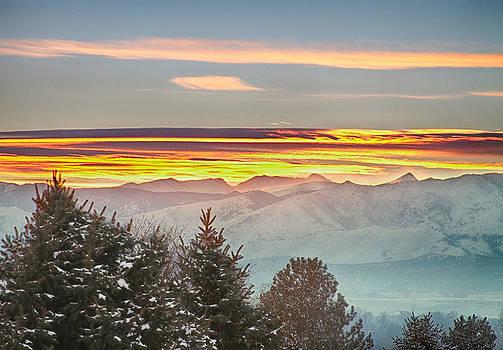 James BO  Insogna - January Colorado Rocky Mountain Sunset