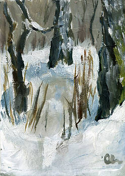 January Plein Air by Lelia Sorokina