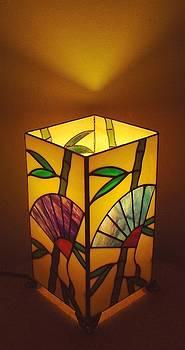 Japanese Bamboo n Fan lamp by DK Nagano