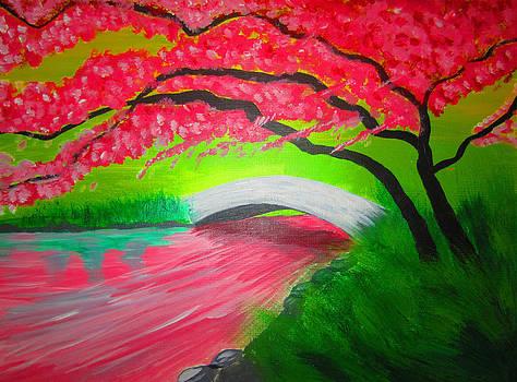 Japanese Blossoms by Haleema Nuredeen