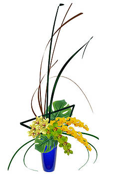 Japanese Floral Arrangement Ikebana - Orchids by Willie Chea
